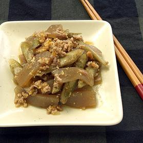 牛肉とごぼうの韓国風煮