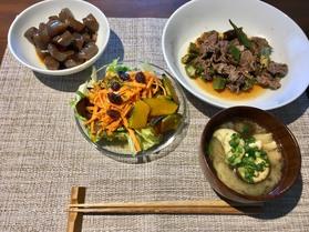 牛肉とオクラのポン酢炒め