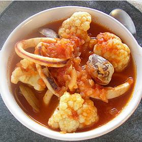 いかのブイヤベース風スープ