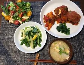 ゆですぎた素麺をラタトゥイユをのせてイタリアンへアレンジしました。